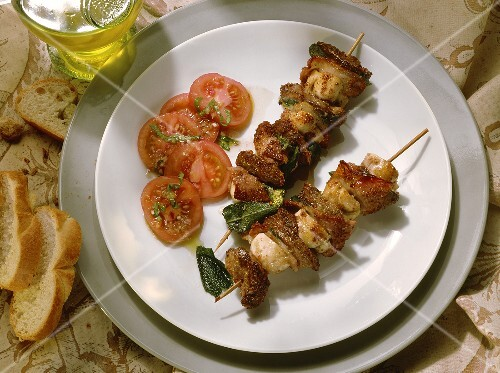 Young Chicken-Liver Skewers