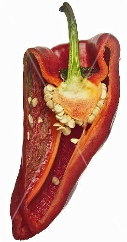 Half a poblano chilli pepper