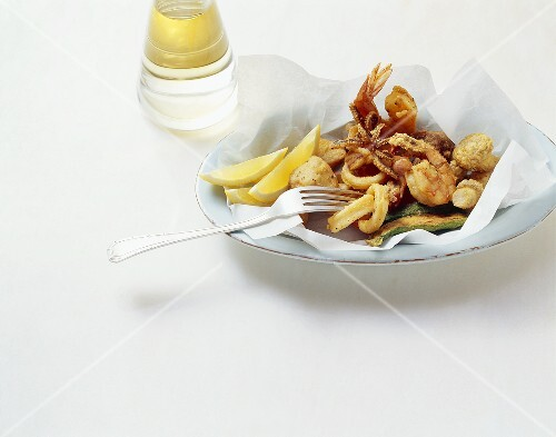 Fritto misto mare e monti (mixed fried food), Liguria, Italy