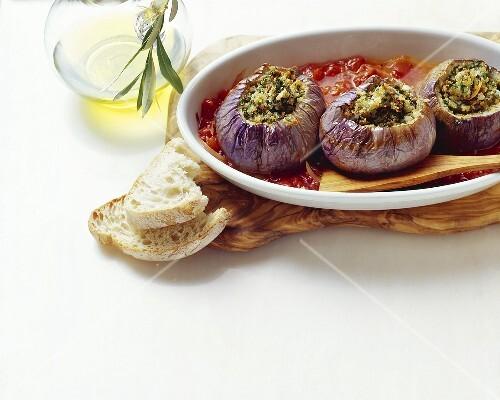 Melanzane ripiene (stuffed aubergines), Sicily, Italy