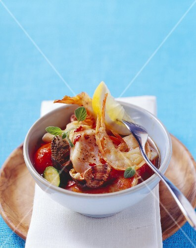 Mixed fish and seafood stew
