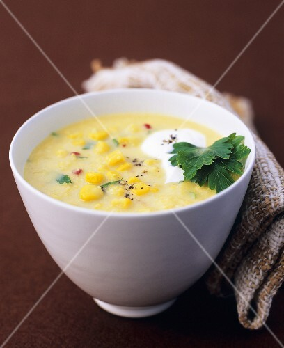 Sweetcorn soup with chilli