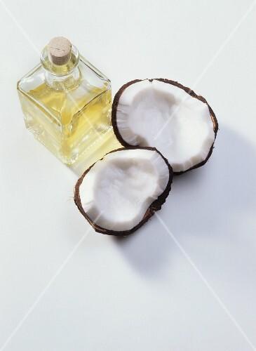 Coconut oil in carafe
