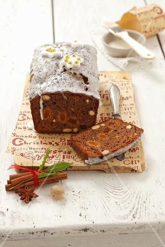 Piernik (honey cake with poppy seeds, Poland) for Christmas