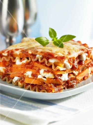 Sweet potato lasagne