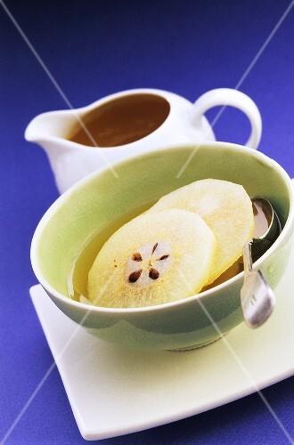 Nashi pears in pineapple juice