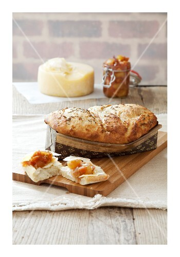 Apple and potato bread with caraway seeds