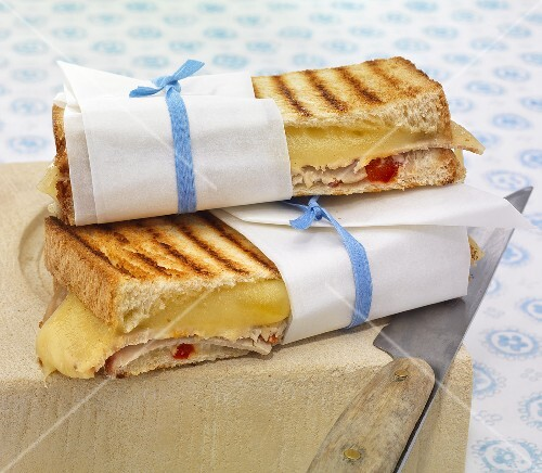 Toasted cheese sandwiches with cold meat