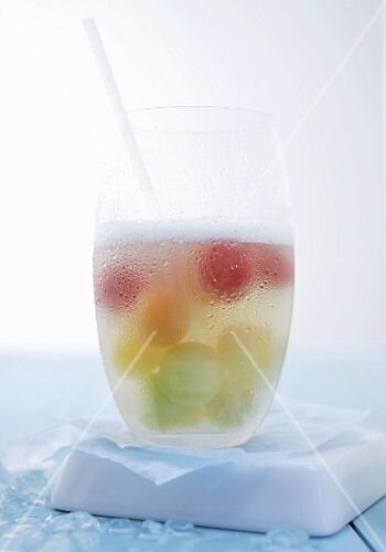 Melon punch in a glass