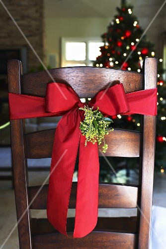 Chair with Christmas decoration
