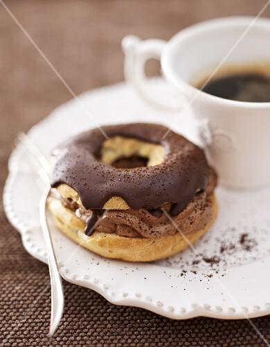 Mocha ring and espresso