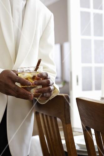 Butler with Calva Spice cocktail