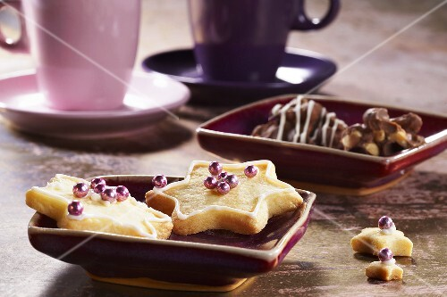 Star biscuits and peanut chocolates