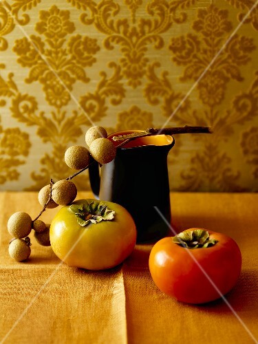 Persimmons and longans