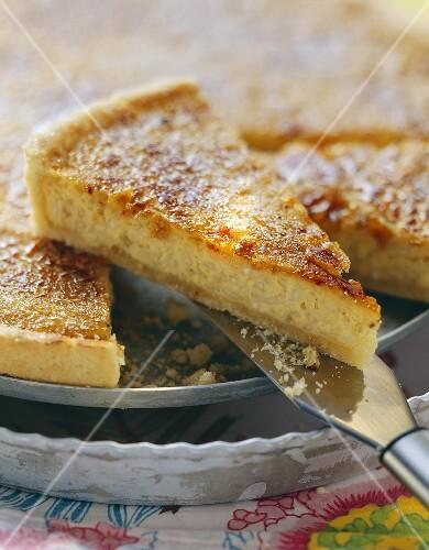 Rice tart with caramelised cane sugar