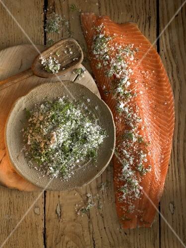 Gravadlax with herb salt