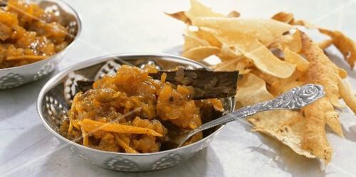 Apple and raisin chutney (Anglo-Indian relish)