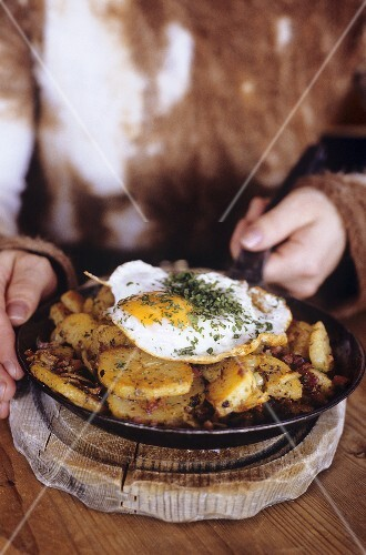 Tiroler Gröstl (Pan-cooked potato dish with egg)