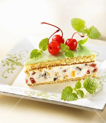 Cassata siciliana (ice cream cake) Sicily, Italy