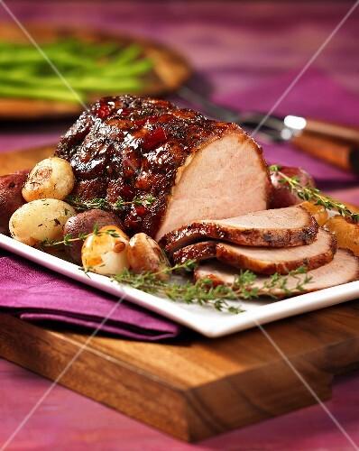 Smoked roast pork