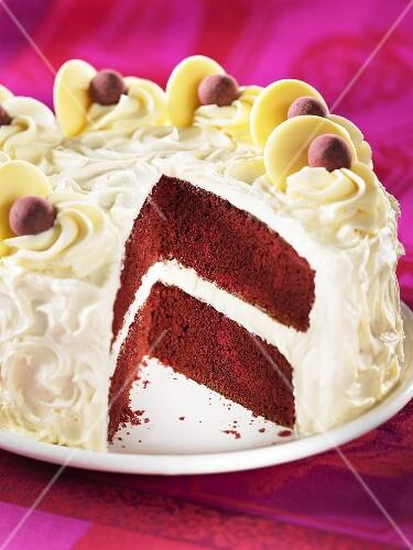 Red Velvet cake, sliced