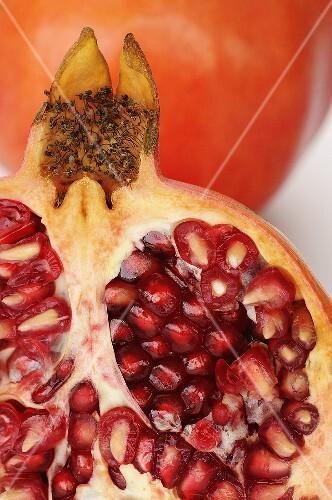 Half a pomegranate (close-up)
