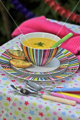 Turnip soup with stilton croutons (bonfire night, England)