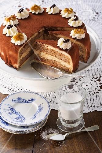 Mokka-Walnuss-Torte