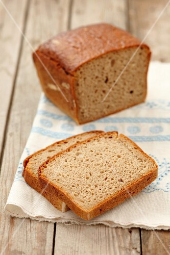 Wholemeal bread, partially sliced