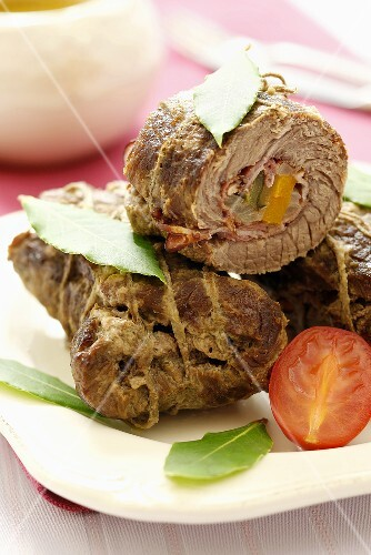Zrazy (Stuffed beef rolls, Poland)