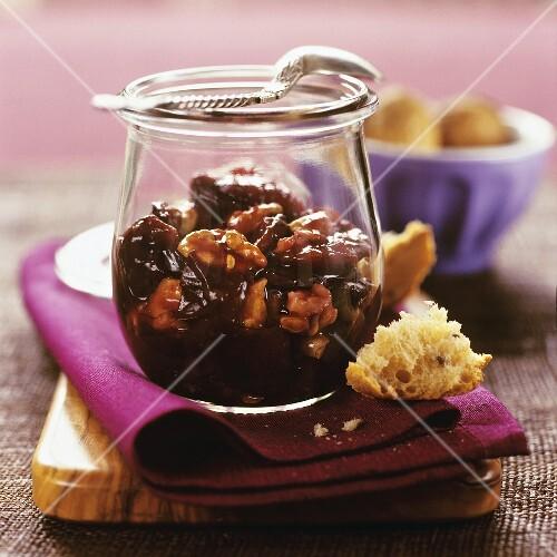 Plum and walnut jam
