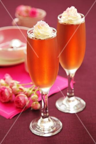 Rose wine jelly