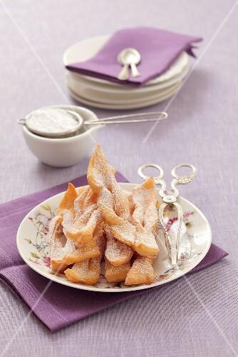 Faworki (deep-fried pastry, Poland)