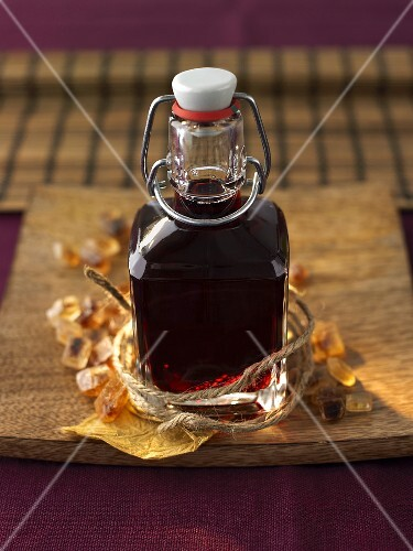 Home-made blackberry liqueur