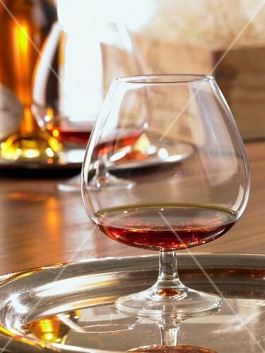 Cognac in brandy balloon