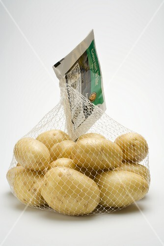 Potatoes in a net bag