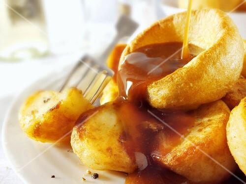 Yorkshire pudding with gravy, UK