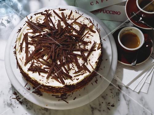 Torta al mascarpone (chocolate and mascarpone cake, Italy)