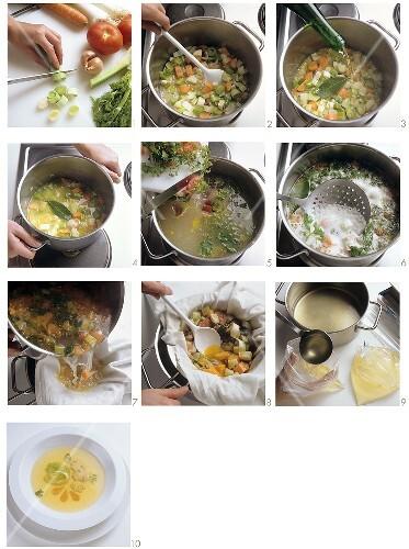 Preparing vegetable bouillon