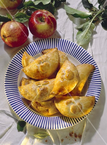 Several Apple Pastry Pockets