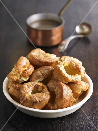 Yorkshire puddings in a dish