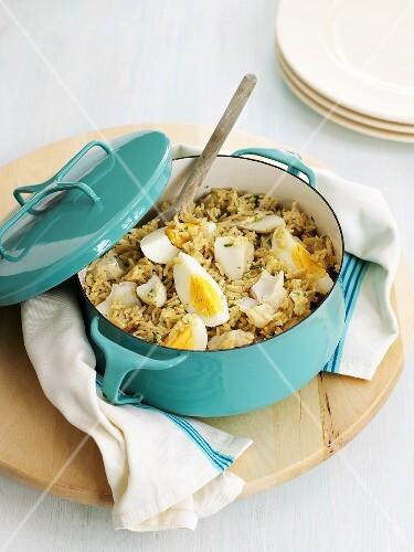 Kedgeree (Anglo-Indian rice and fish dish)