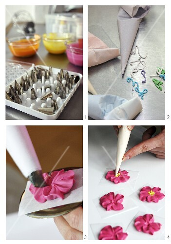 Making sugar flowers
