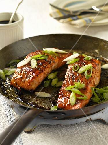 Salmon with a honey and balsamic vinegar marinade