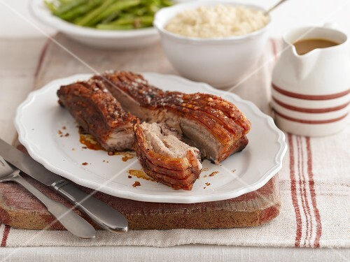Roast belly pork with crackling