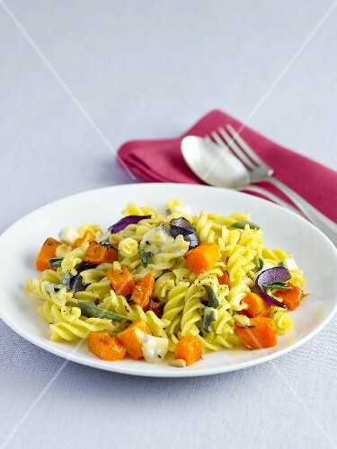 Fusilli with butternut squash