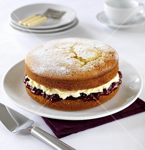 A Victoria sponge cake