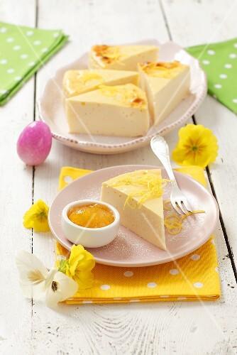 Lemon cheesecake for Easter