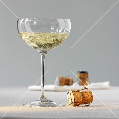 Sparkling champagne in a champagne glass