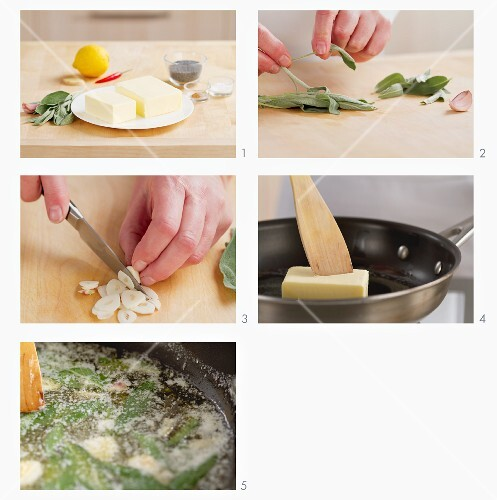 Making sage butter